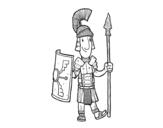 Dibujo de Un soldado romano para colorear