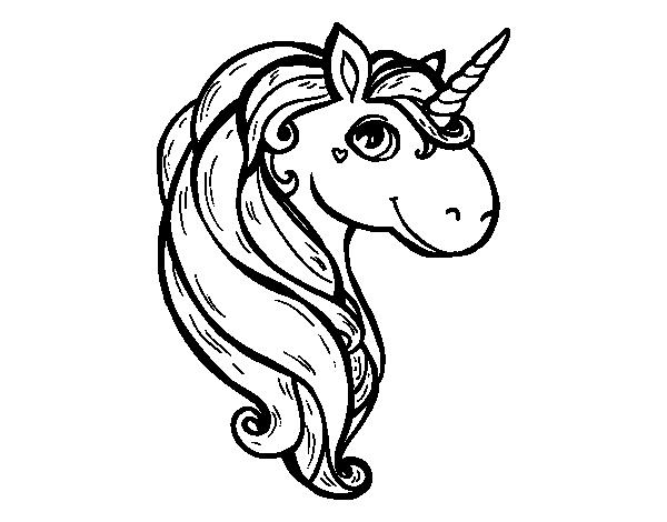 Dibujo De Un Unicornio Para Colorear