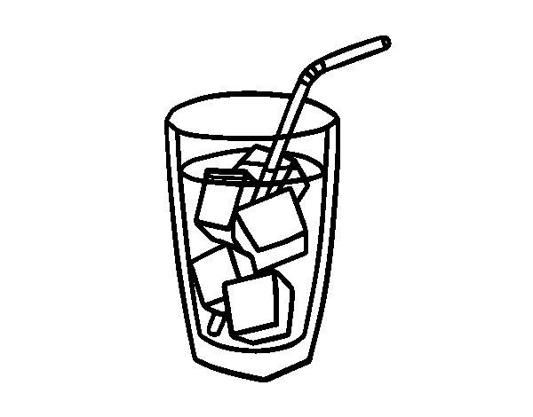 Dibujo de Un vaso de refresco para Colorear