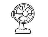 Dibujo de Un ventilador para colorear