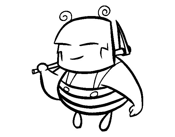 Dibujo de Una abeja obrera para Colorear
