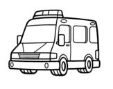 Dibujo de Una ambulancia para colorear