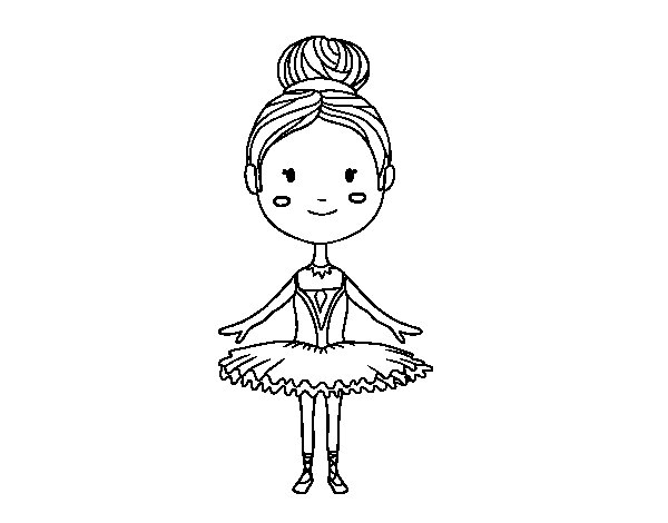 Dibujos De Baile Flamenco Para Colorear E Imprimir: Dibujo De Una Bailarina De Ballet Para Colorear