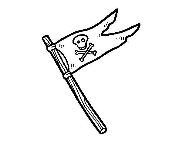 Dibujo de Una bandera pirata para Colorear