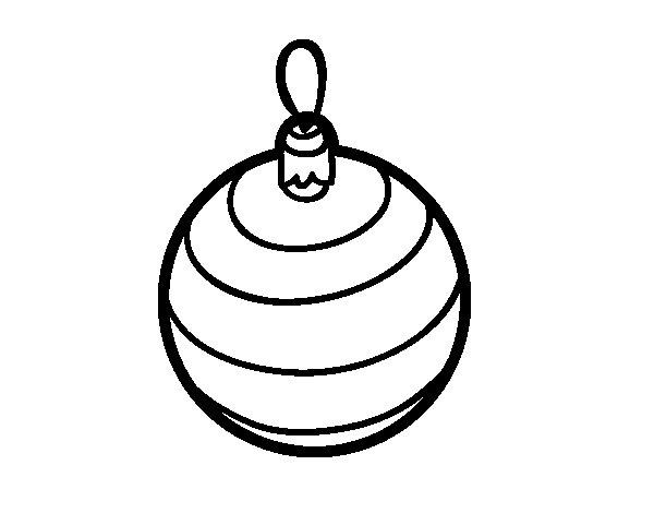 Dibujos Para Colorear Arboles Navidenos: Dibujo De Una Bola De árbol De Navidad Para Colorear