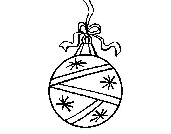 Dibujo de una bola de navidad para colorear - Dibujos de pintar de navidad ...