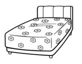 Dibujo de Una cama para colorear