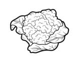 Dibujo de Una coliflor para colorear