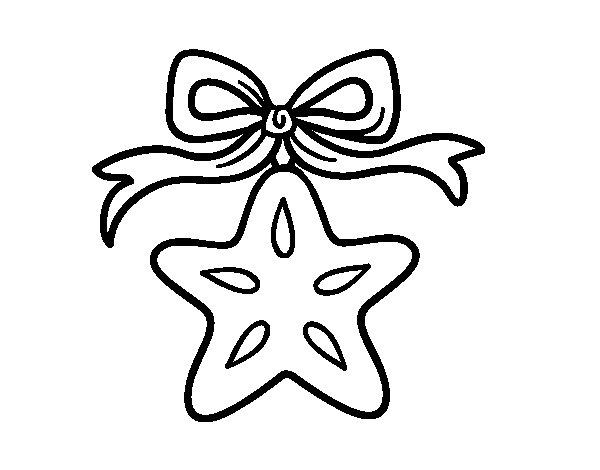 Dibujo de Una estrella navideña para Colorear