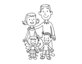 Dibujo de Una familia para colorear