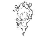 Dibujo de Una gimnasta rítmica para colorear