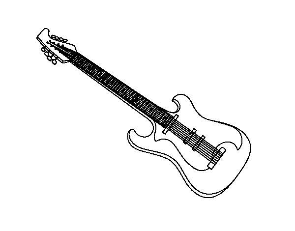 Dibujo de Una guitarra elctrica para Colorear  Dibujosnet