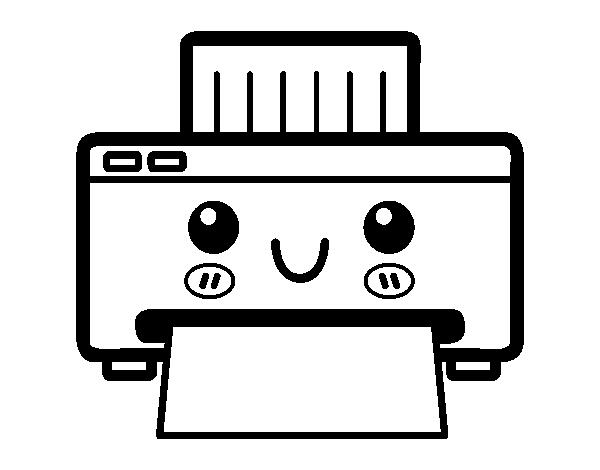 Dibujo de una impresora para colorear for Sillas para dibujar facil