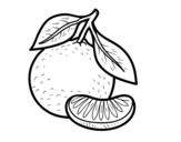Dibujo de Una mandarina para colorear
