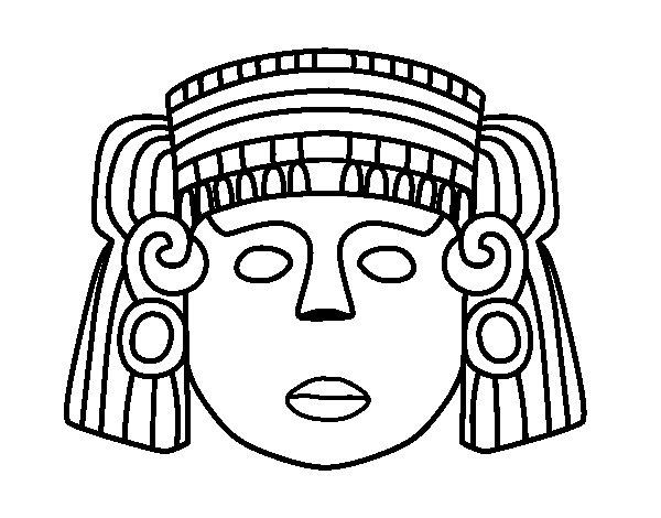 Dibujo de Una máscara mexicana para Colorear