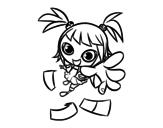 Dibujo de Una niña manga para colorear