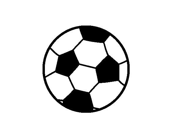 Dibujo de Una pelota de fútbol para Colorear