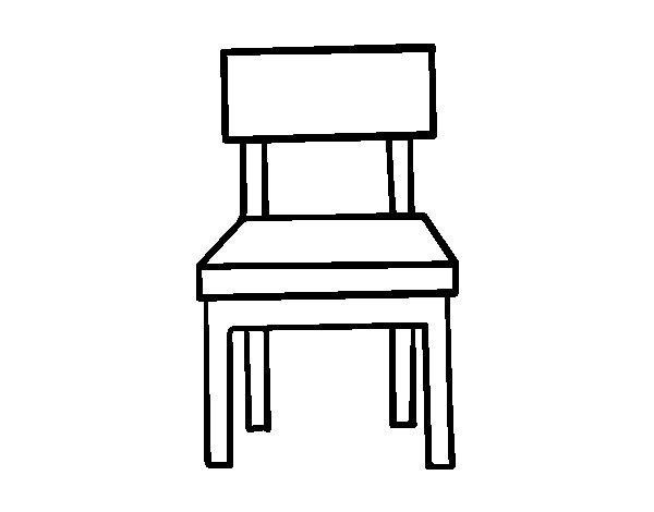 dibujo de una silla de comedor para colorear