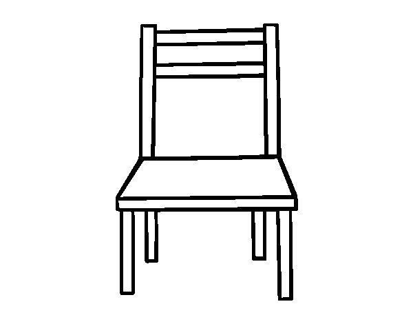 Dibujo de Una silla de madera para Colorear  Dibujosnet