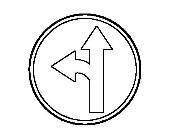 Dibujo de Únicas direcciones 1 para Colorear