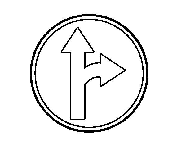 Dibujo de Únicas direcciones permitidas 2 para Colorear