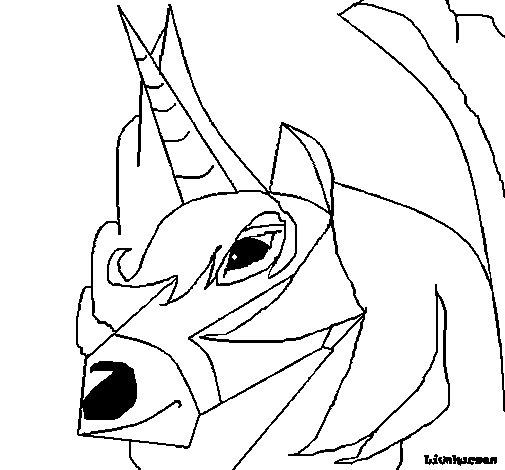 Dibujo de Unicornio 3 para Colorear