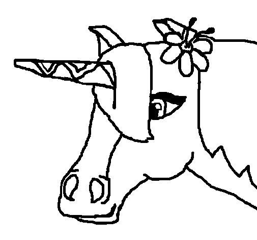 Dibujo de Unicornio III para Colorear