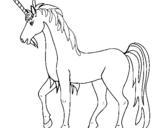 Dibujo de Unicornio II para colorear