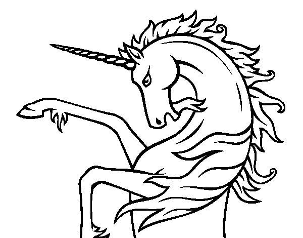 Dibujo de Unicornio salvaje para Colorear
