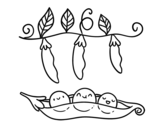 Dibujo de Unos guisantes para colorear