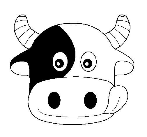 Dibujo de Vaca 6 para Colorear