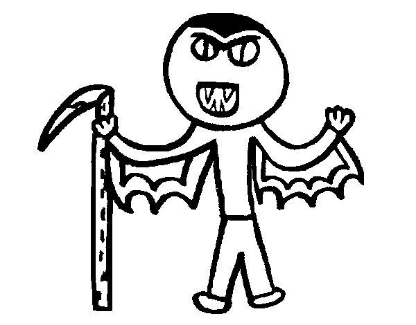 Dibujo de Vampiro para Colorear