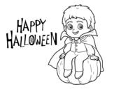 Dibujo de Vampiro para Halloween para colorear