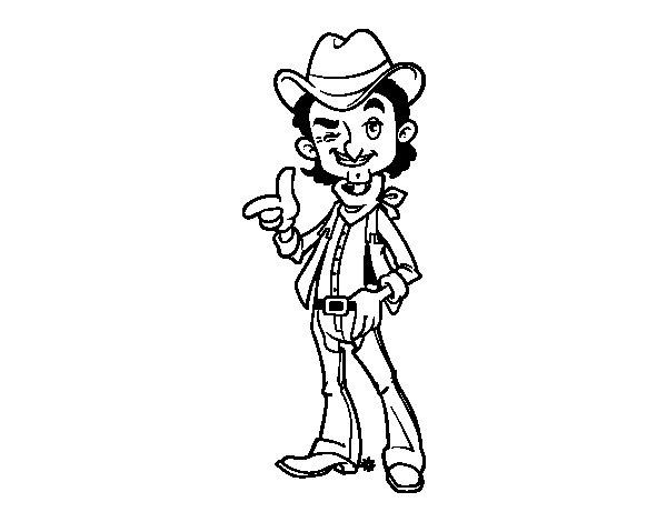 Dibujo de Vaquero para Colorear