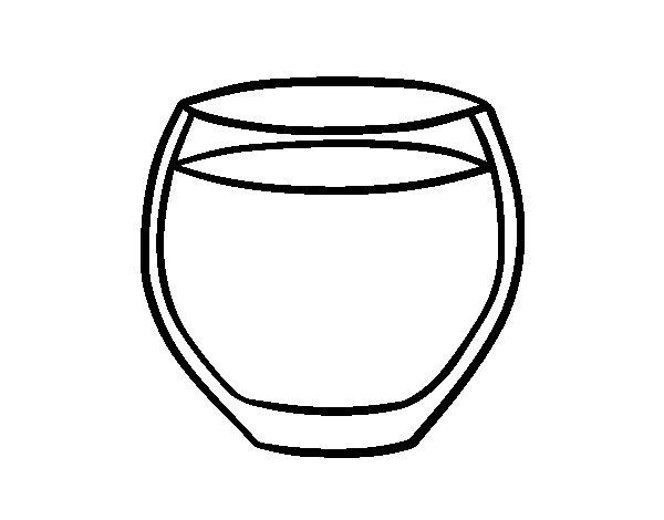 Dibujo de Vaso de agua para Colorear