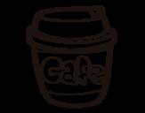 Dibujo de Vaso de café para colorear