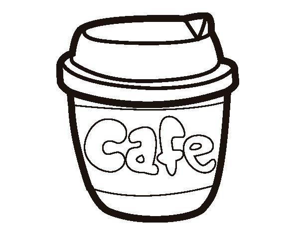 Dibujo De Vaso De Caf Para Colorear