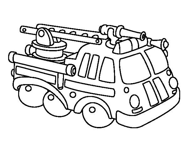 Dibujo de Vehculo de bomberos para Colorear  Dibujosnet