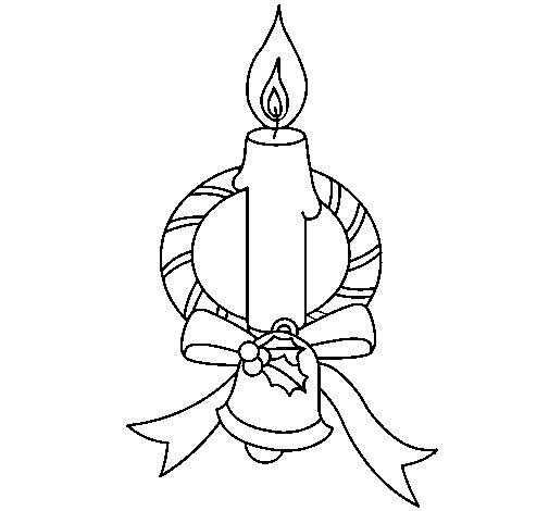 Dibujo de Vela III para Colorear