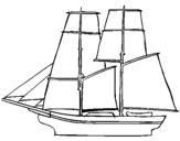 Dibujo de Velero 1 para colorear