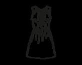 Dibujo de Vestido de noche para colorear