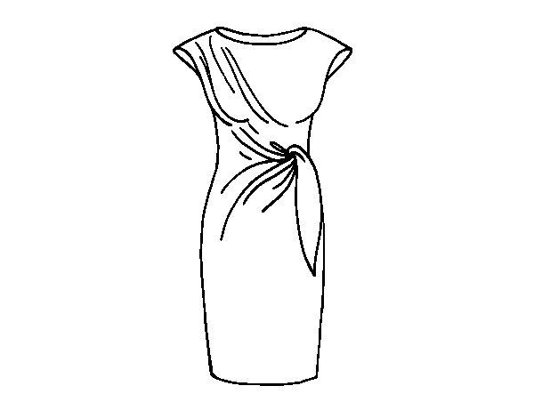 Dibujo de Vestido elegante para Colorear