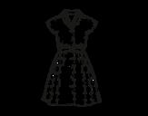 Dibujo de Vestido pinup para colorear