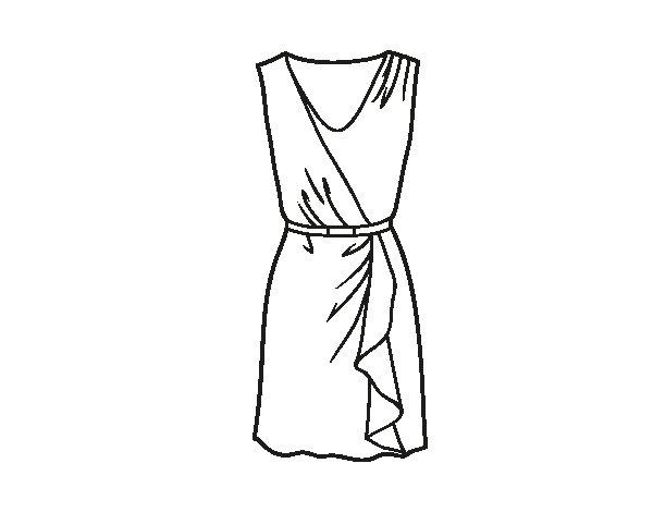 Dibujos de un vestido para colorear – Vestidos de noche de moda en ...