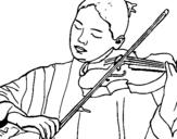 Dibujo de Violinista para colorear