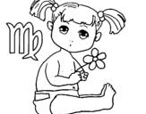 Dibujo de Virgo para colorear