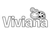 Dibujo de Viviana para colorear
