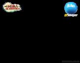 Dibujo de Volando con Marceline para colorear