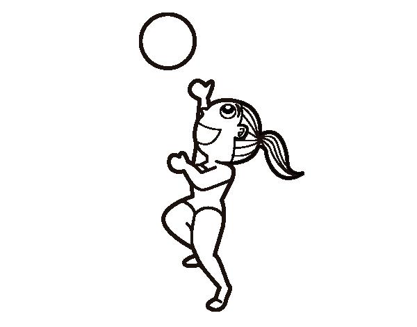 Dibujo de Vóley playa para Colorear