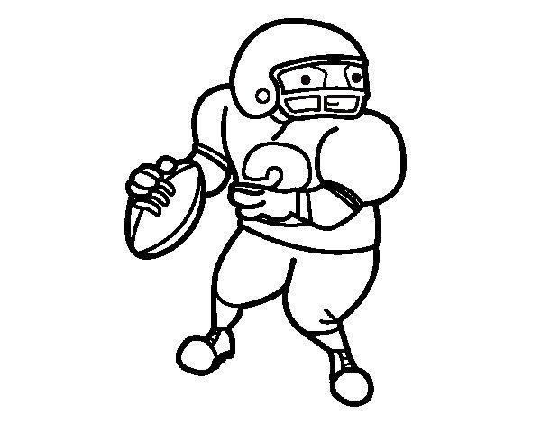 Dibujo de Wide receiver para Colorear